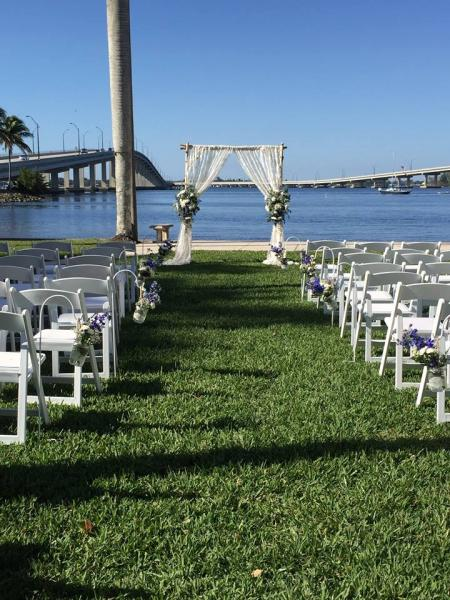 [Image: The majority of our business includes water-front weddings, creating the ideal atmosphere utilizing nature's beauty for your ceremony!]